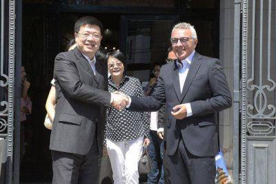 Zamora recibió al embajador de la República Popular de China Zou Xiaolie