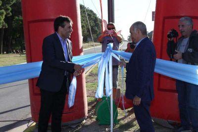 López inauguró otra obra: el pavimento y la iluminación de la Avenida 10 ya son parte de la ciudad