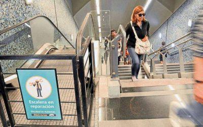 Subte: la Justicia ordenó que los usuarios viajen gratis en las estaciones donde no funcionen las escaleras mécanicas