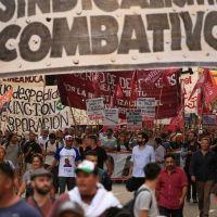En la Plaza de Mayo el sindicalismo combativo reclamó un paro de 36 horas