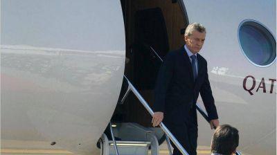 Acompañado de 120 empresarios, Macri inicia una gira internacional