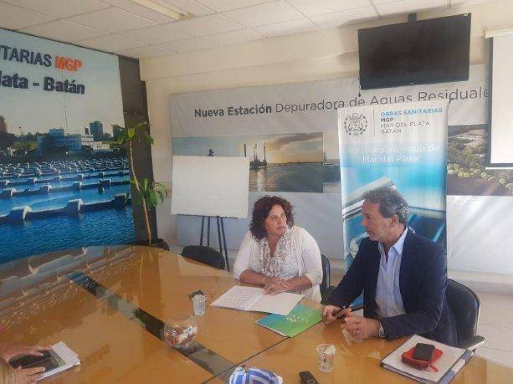 CEAMSE firmó dos convenios de asistencia con Obras Sanitarias de Mar del Plata