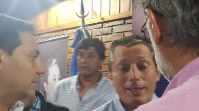 Fabián Salguero congresal del PJ y Miguel Napoli ex concejal y exPresidente del Bloque del FPV fueron invitados por Fernando Gray