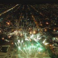 El show de fuegos artificiales en la procesión de San Antonino