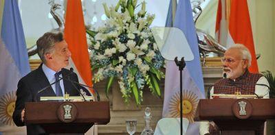 """Mauricio Macri se reunió con Narondra Modi y acordaron """"profundizar la relación"""" entre Argentina e India"""