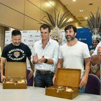Cresto, Echarren y Menéndez firmaron un convenio de colaboración social y cultural entre las tres ciudades
