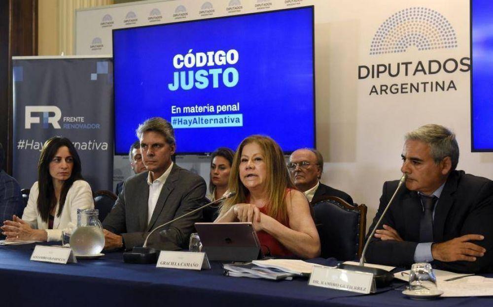 El massismo presentó su proyecto de reforma del Código Penal
