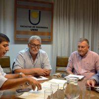Plan de obras hídricas para Resistencia: Gustavo Martínez se reunió con el decano de Ingeniería
