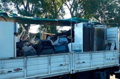 Residuos electrónicos: Entre Ríos envió casi 10 toneladas en el primer envío del 2019