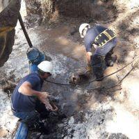 Acueducto Sur: reparan rotura y reestablecen servicio