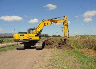 Balcarce: Avanzan con las obras de desagüe y caminos