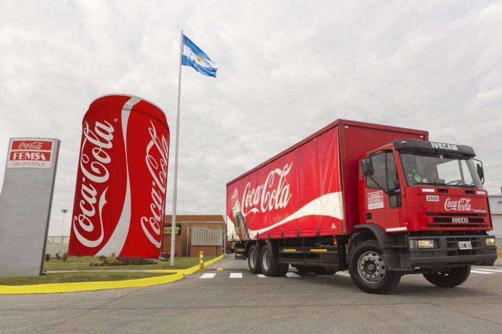 La embotelladora de Coca-Cola, Femsa Argentina, presentó un procedimiento preventivo de crisis