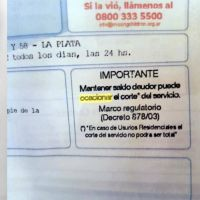 Aguas Bonaerenses, con orejas de burro: Las facturas de agua llegaron con errores de ortografía
