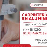 Nuevo curso sobre Carpintería en Aluminio