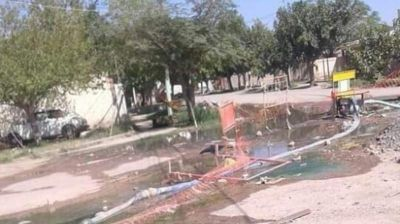 Asqueroso: vecinos de Caucete viven inundados de líquidos cloacales