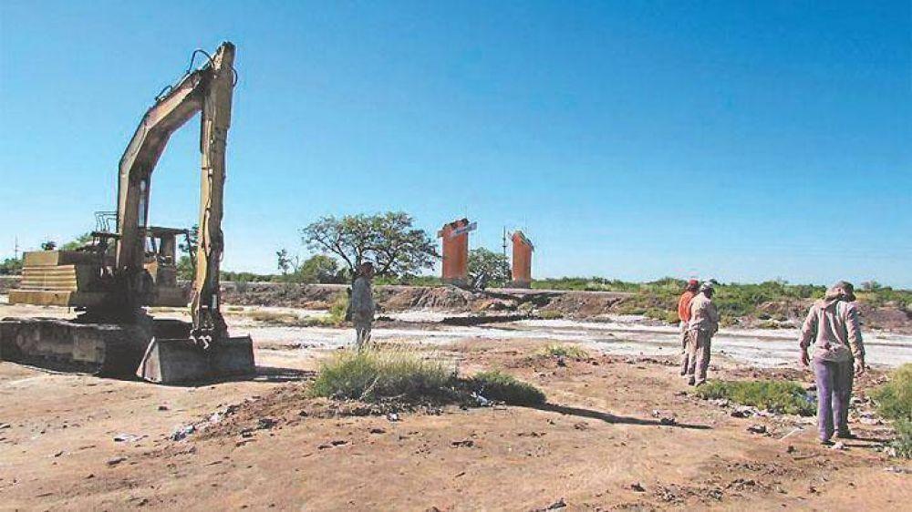 Ejecutan obras hídricas para evitar futuras inundaciones en Colonia El Simbolar