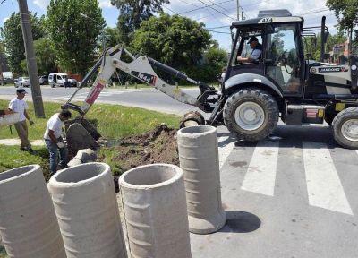 Tigre extiende el plan de entubamiento de conductos pluviales en el barrio Los Tábanos