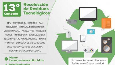 Comienza la 13ª campaña de Recolección de Residuos Tecnológicos