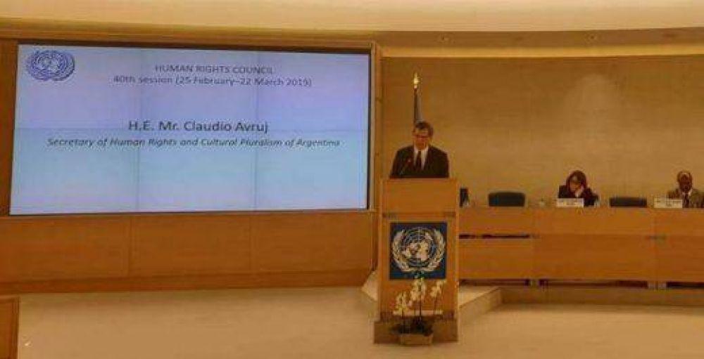 """Claudio Avruj en Naciones Unidas: """"Frente a la xenofobia, el antisemitismo y la islamofobia que avanza en el mundo, Argentina es un modelo donde el mundo puede inspirarse"""""""