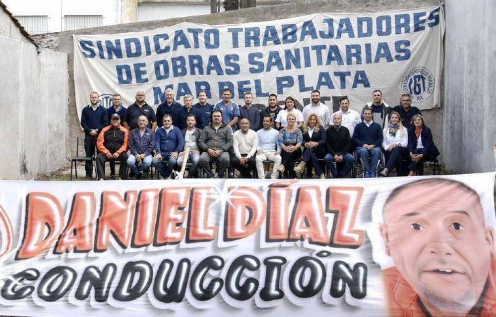 Daniel Díaz va por un nuevo período al frente del Sindicato de Trabajadores de Obras Sanitarias