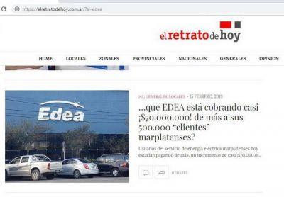"""OCEBA le ordena a EDEA S.A. dejar sin efecto el arbitrario aumento, luego de leer """"el Retrato…"""""""