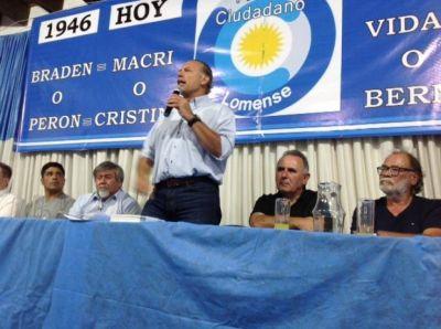 De campaña en el pago de Insaurralde, Berni les pegó a los intendentes que