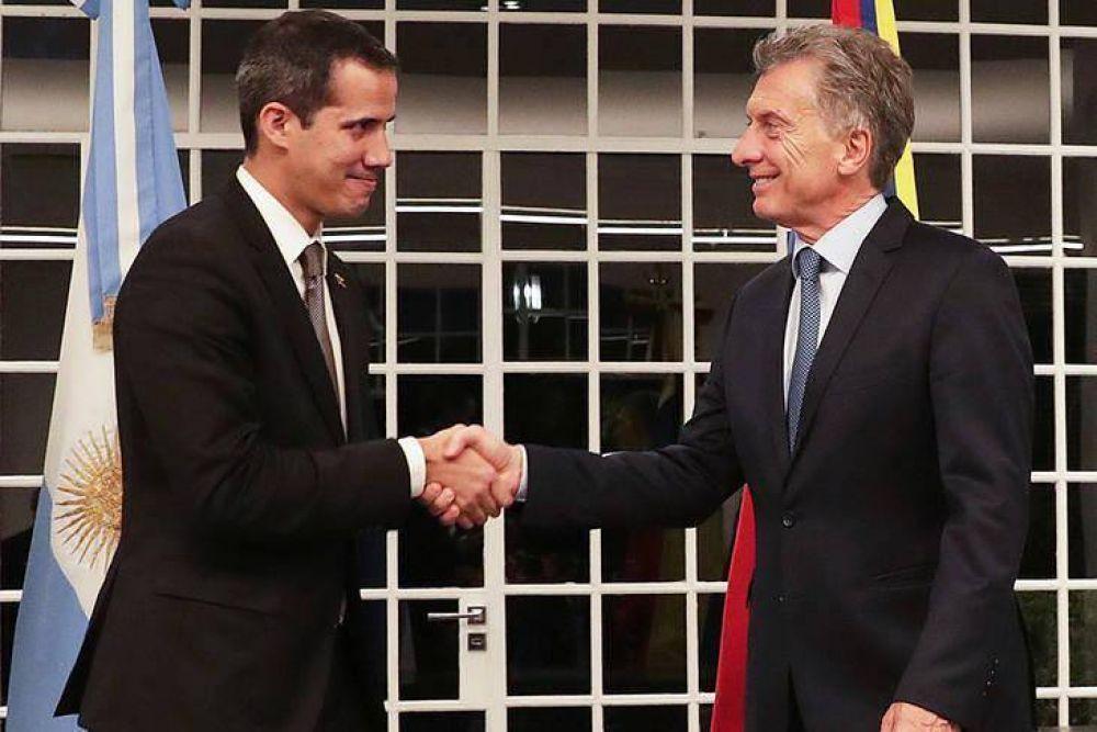 Guaidó se reunió con Macri y agradeció su apoyo