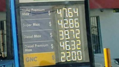 El aumento en combustibles ya se aplica en surtidores de todas las petroleras que operan en la provincia