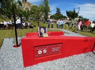 Inauguraron el Paseo por la Paz en homenaje a Melisa Núñez