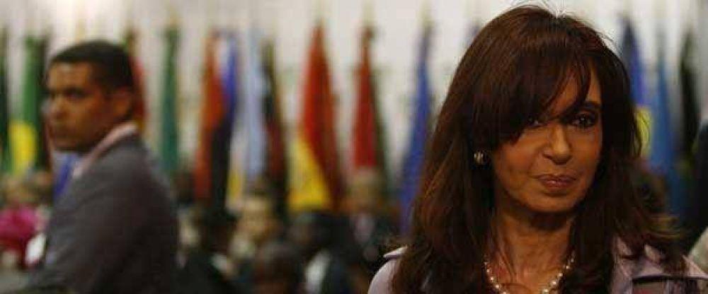 Cristina Kirchner, última en imagen