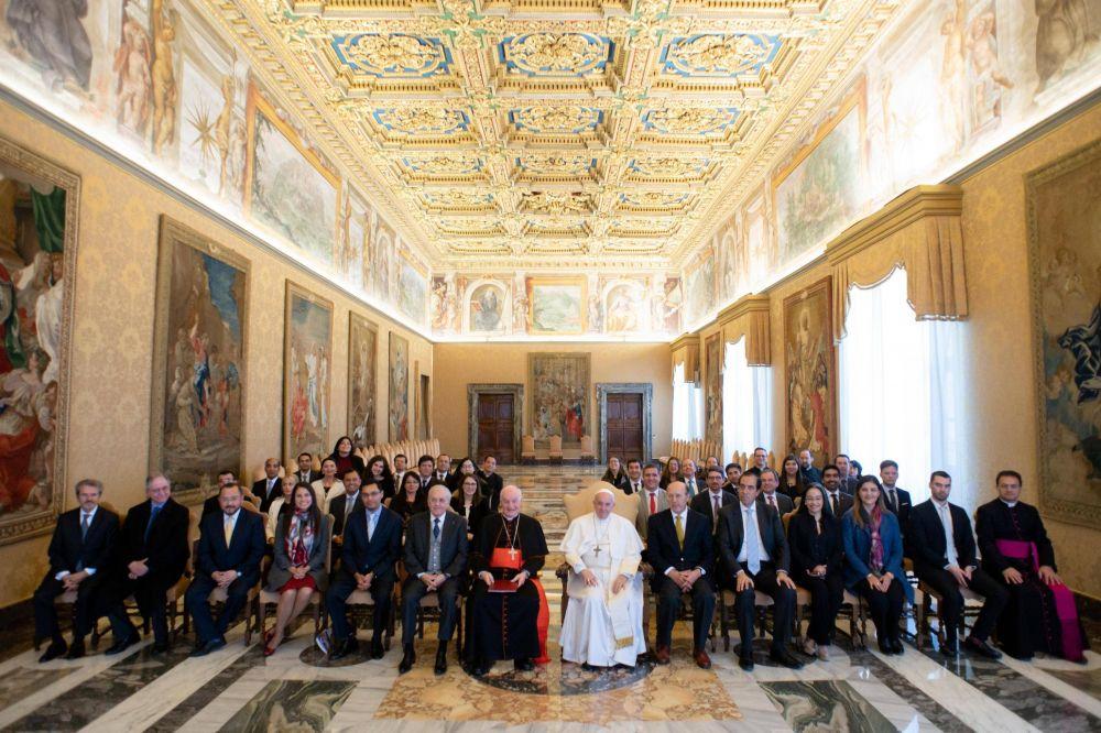 Audiencia a un grupo de la Pontificia Comisión para América Latina
