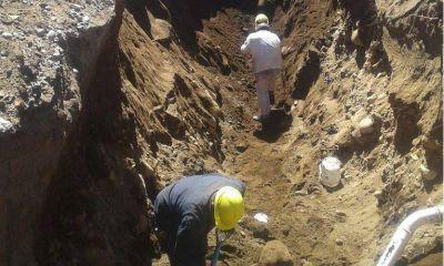 Las obras de red cloacal en el barrio Cooperativa 258 están llegando a su fin