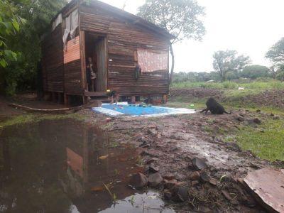 """Posadas: volvieron a inundarse lo vecinos de la chacra 247 que residen a la vera del arroyo """"La Chancha"""""""