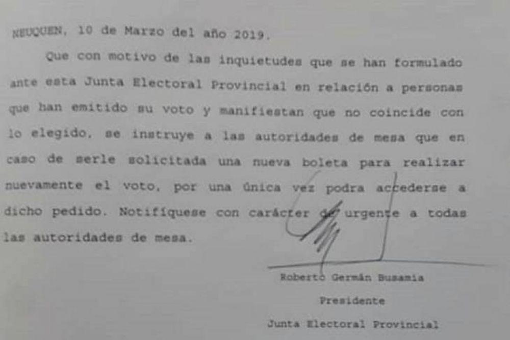 Tras las denuncias, la Junta Electoral habilitó repetir el voto a pedido del elector