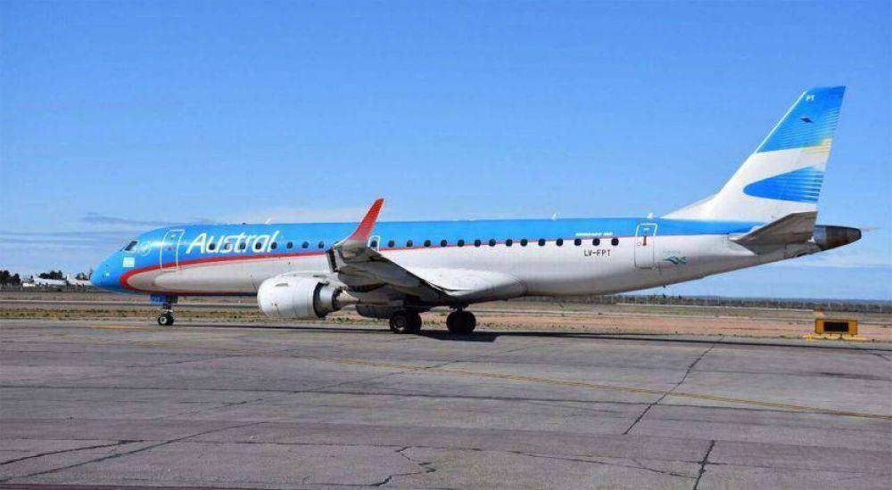 Aeronavegantes anunció un paro en vuelos de Austral para el miércoles 13 de marzo
