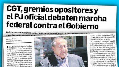 CGT y la oposición marchan juntas el 4/4 a Plaza de Mayo
