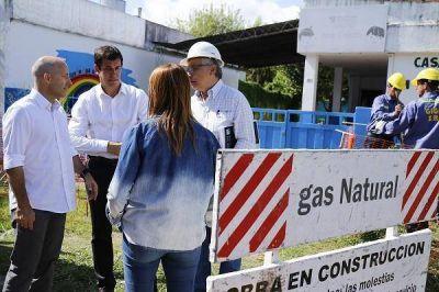 Ducoté y Kerr supervisaron el inicio de las obras en la red de gas en Luchetti