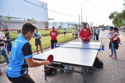 Ariel Sujarchuk inauguró el nuevo Corredor aeróbico de la calle Sarmiento