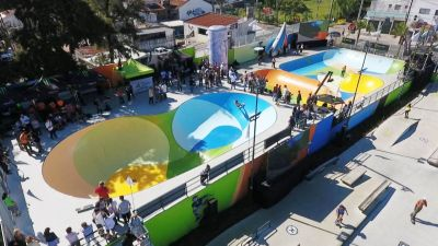 Andreotti inauguró el Parque de Deportes Extremos con la final internacional del Skate Summer Tour 2019