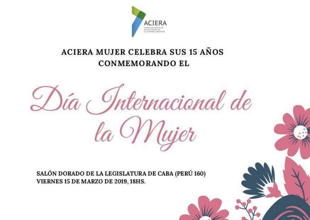 Este viernes ACIERA Mujer distinguirá a mujeres solidarias en la Legislatura Porteña