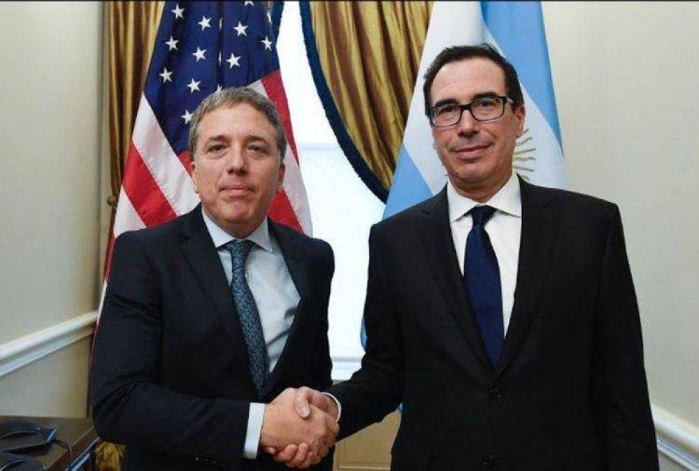 Dujovne completó su primer día en Washington con un firme respaldo del Tesoro de EEUU