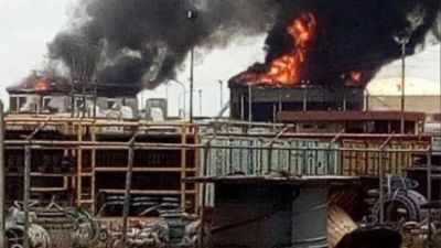 Explotaron dos tanques de almacenaje de diluyente en una planta petrolera en Venezuela