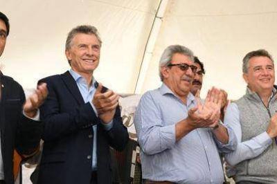 Ramón Ayala y Mauricio Macri juntos en Expoagro 2019