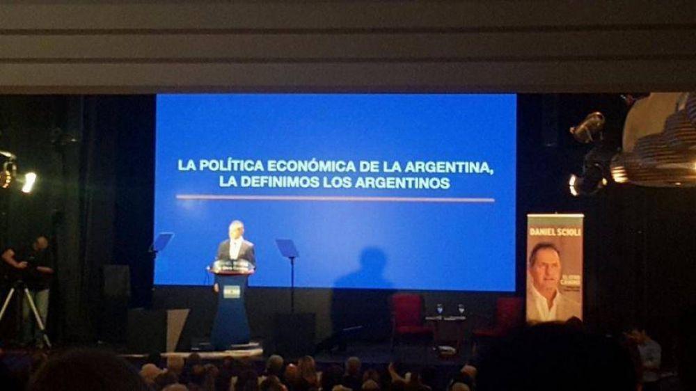 Con fe y esperanza, Daniel Scioli lanzó su precandidatura a presidente