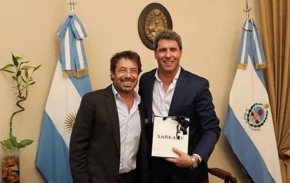 Uñac recibió a un reconocido empresario de la moda que vino a dar una conferencia