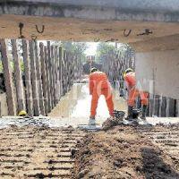 El desagüe El Sable entra en su etapa final de construcción