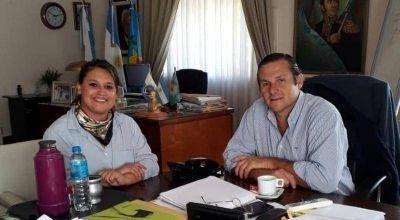 Mariela Cincotta se reunió con el intendente de Dolores e intercambiaron experiencias de gestión