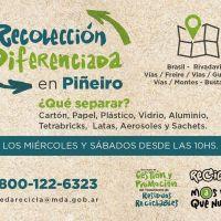 Comienza el programa de recolección diferenciada en Piñeyro