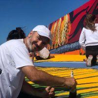 Restauran el Mural Reflejos en la Escollera de Puerto Quequén