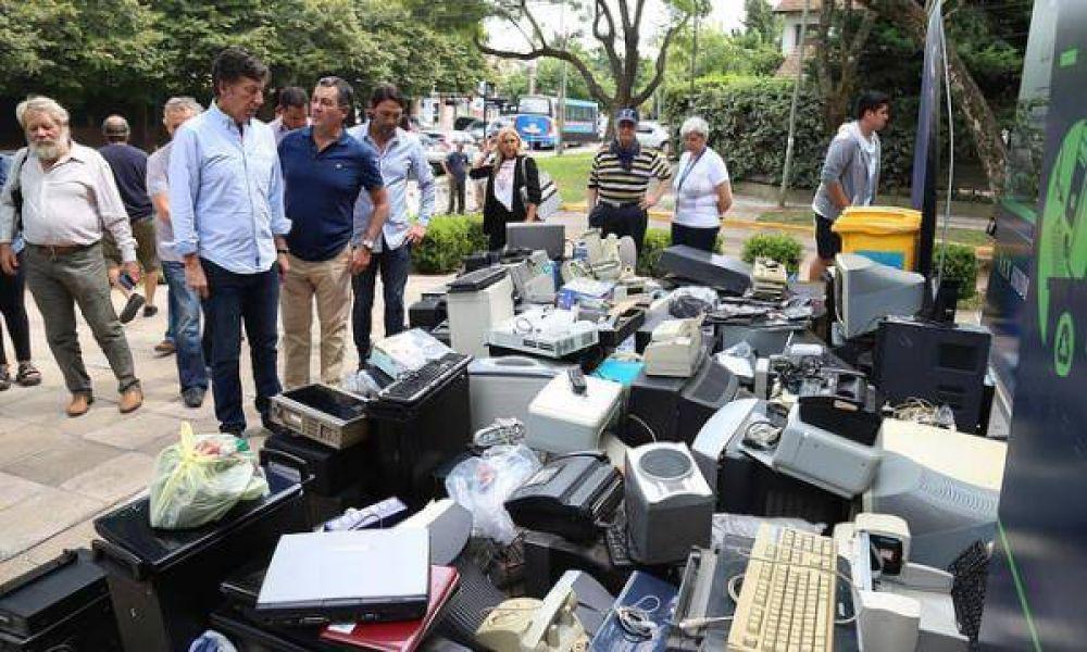 San Isidro realizó otra jornada de recolección de residuos electrónicos